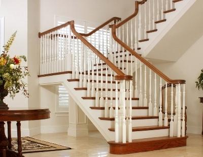 Перила для лестницы из дерева, поручень деревянный для